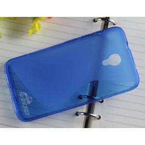 Силиконовый S чехол для Alcatel One Touch Idol 2 S Голубой