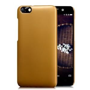 Пластиковый матовый чехол Металлик для Huawei Honor 4X Бежевый