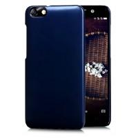 Пластиковый матовый чехол Металлик для Huawei Honor 4X Синий