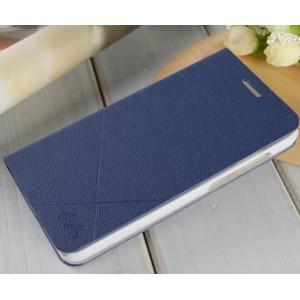 Текустурный чехол флип подставка на пластиковой основе для Huawei Honor 4X