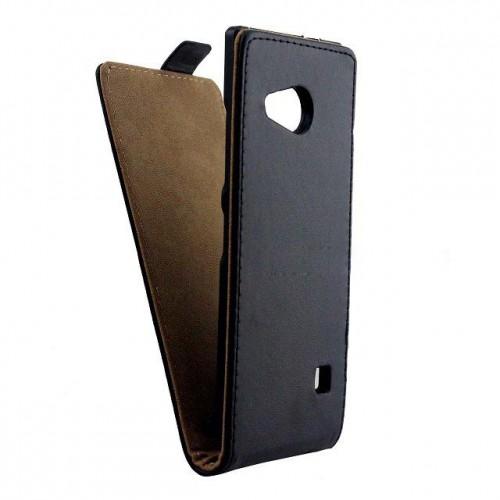 Чехол вертикальная книжка на пластиковой основе с магнитной застежкой для Nokia Lumia 730/735