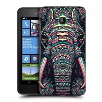 Пластиковый матовый дизайнерский чехол с эксклюзивной серией принтов Fauna Contrast для Nokia Lumia 630/635 (изготовление на заказ)