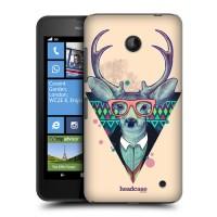 Пластиковый матовый дизайнерский чехол с эксклюзивной серией принтов Smart Nature для Nokia Lumia 630/635 (изготовление на заказ)