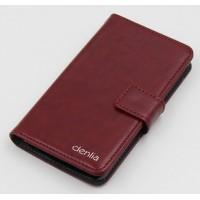 Чехол портмоне подставка с защелкой для ZTE Geek 2 Бордовый