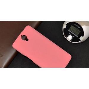 Пластиковый матовый непрозрачный чехол для Alcatel One Touch Idol X+ Розовый