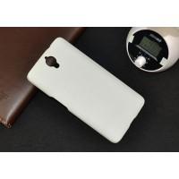 Пластиковый матовый непрозрачный чехол для Alcatel One Touch Idol X+ Белый