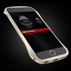 Металлический винтовой эргономичный бампер для Iphone 6 Бежевый