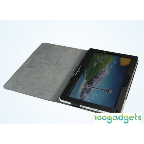 Кожаный чехол подставка с рамочной защитой для планшета Acer Iconia W510/W511 Черный