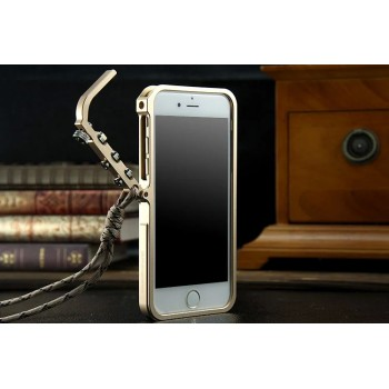 Металлический усиленный бампер быстрой установки с крышкой и крепежным карабином для Iphone 6