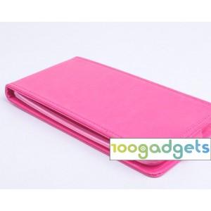 Чехол вертикальная книжка на силиконовой основе с магнитной застежкой для Asus Zenfone 2 Розовый