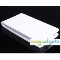 Чехол вертикальная книжка на силиконовой основе с магнитной застежкой для Asus Zenfone 2 Белый