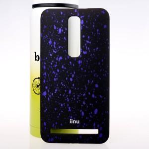 Пластиковый матовый дизайнерский чехол с голографическим принтом Звезды для Asus Zenfone 2 Фиолетовый