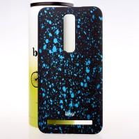 Пластиковый матовый дизайнерский чехол с голографическим принтом Звезды для Asus Zenfone 2 Голубой