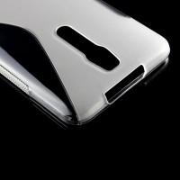 Силиконовый S чехол для Asus Zenfone 2 Серый