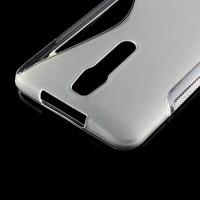 Силиконовый S чехол для Asus Zenfone 2 Белый