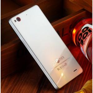 Чехол с металлическим бампером и поликарбонатной накладкой для ZTE Nubia Z5S Mini Белый