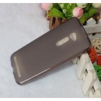 Силиконовый матовый полупрозрачный чехол для Asus Zenfone 2 5 Черный
