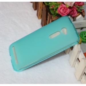 Силиконовый матовый полупрозрачный чехол для Asus Zenfone 2 5 Голубой