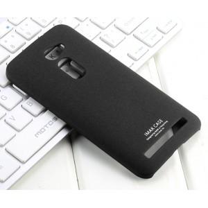 Пластиковый матовый чехол с повышенной шероховатостью для Asus Zenfone 2 5 Черный