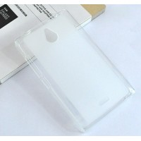 Силиконовый матовый полупрозрачный чехол для Nokia X2 Белый