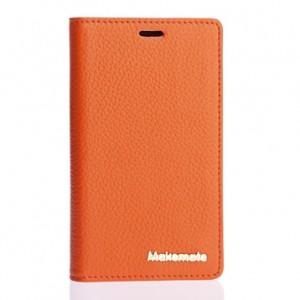 Кожаный чехол портмоне подставка на пластиковой основе для Nokia X2