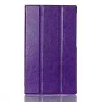Чехол флип подставка сегментарный глянцевый на поликарбонатной основе для Lenovo Tab 2 A7-30 Фиолетовый