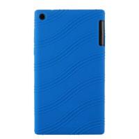 Силиконовый чехол с рельефным узором для Lenovo Tab 2 A7-30 Синий