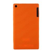 Силиконовый чехол с рельефным узором для Lenovo Tab 2 A7-30 Оранжевый