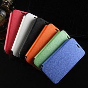 Текстурный чехол флип подставка на присоске и силиконовой основе для Alcatel One Touch Idol 2 mini