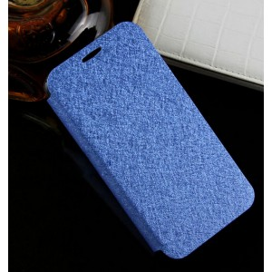 Текстурный чехол флип подставка на присоске и силиконовой основе для Alcatel One Touch Idol 2 mini Голубой