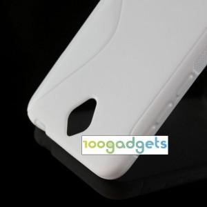 Силиконовый S чехол для Alcatel One Touch Idol 2 mini Белый