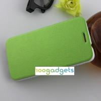 Текстурный чехол флип подставка на присоске для Alcatel One Touch Idol 2 Зеленый
