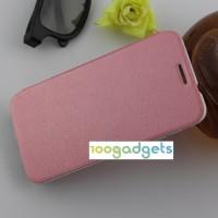 Текстурный чехол флип подставка на присоске для Alcatel One Touch Idol 2 Розовый