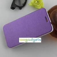 Текстурный чехол флип подставка на присоске для Alcatel One Touch Idol 2 Фиолетовый