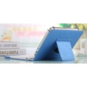 Текстурный универсальный чехол подставка на зажимах для Alcatel One Touch Hero 8 Голубой