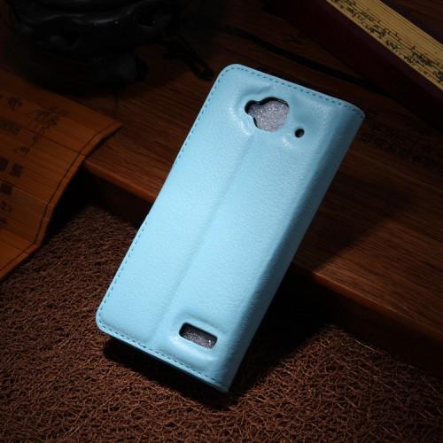 Чехол портмоне подставка с защелкой для Alcatel One Touch Idol Mini