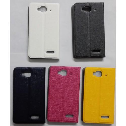 Текстурный чехол подставка на пластиковой основе для Alcatel One Touch Idol Mini