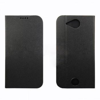 Чехол флип подставка на силиконовой основе с защелкой для Acer Liquid Jade Черный