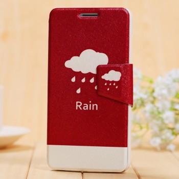 Чехол портмоне подставка с защелкой и полноповерхностным принтом для Huawei Honor 4X