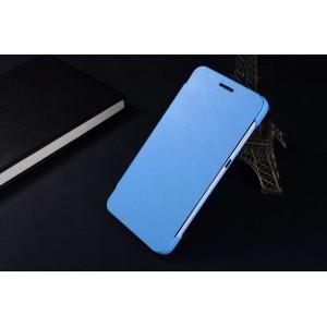 Чехол флип на пластиковой нескользящей основе с логотипом для Huawei Honor 4X Голубой