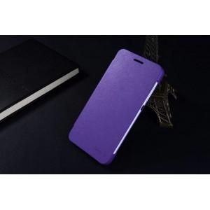 Чехол флип на пластиковой нескользящей основе с логотипом для Huawei Honor 4X Фиолетовый