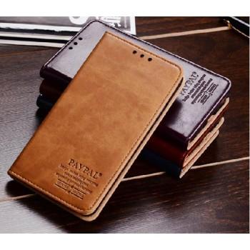 Премиум чехол винтажная кожа для Nokia Lumia 1320