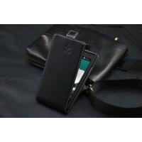 Чехол вертикальная книжка на пластиковой основе для ZTE Blade G Lux Черный