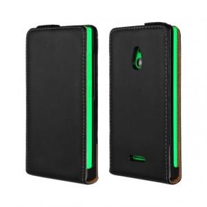 Чехол вертикальная книжка на пластиковой основе для Nokia XL