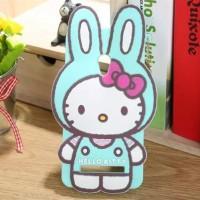 Силиконовый дизайнерский фигурный чехол серия Hello Kitty для ASUS Zenfone 5 Голубой