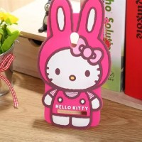 Силиконовый дизайнерский фигурный чехол серия Hello Kitty для ASUS Zenfone 5 Пурпурный
