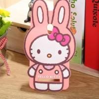 Силиконовый дизайнерский фигурный чехол серия Hello Kitty для ASUS Zenfone 5 Розовый