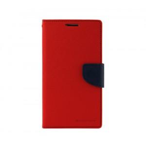 Дизайнерский чехол портмоне подставка с защелкой для ASUS Zenfone 5 Красный