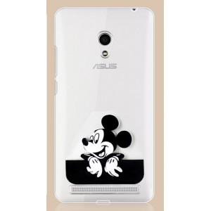Силиконовый дизайнерский транспарентный чехол с принтом Микки для ASUS Zenfone 5