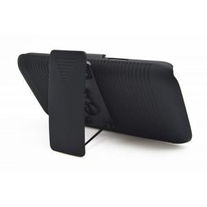 Антиударный поликарбонатный чехол с независимым защитным модулем для экрана на клипсе под ремень и ножкой-подставкой для Samsung Galaxy S5 Mini